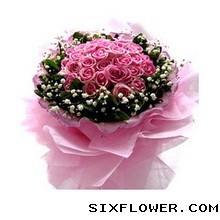 33枝紫玫瑰/尽在不言中