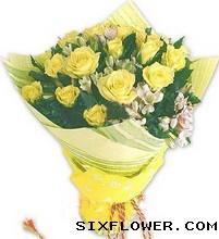19枝黄玫瑰/你最出众