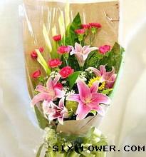 好运无限/3枝向日葵,9枝香槟玫瑰:11枝康乃馨/难忘亲恩