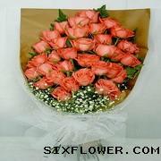 时刻想你/6枝玫瑰,2枝百合礼盒:33枝玫瑰/爱不变