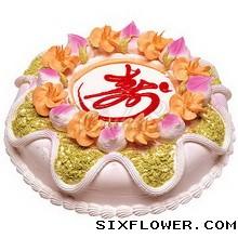 温暖的天空/圆形水果蛋糕:健康长寿