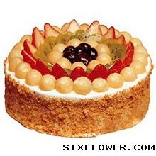 相思比梦长/8寸圆形水果鲜奶蛋糕:欧式蛋糕/美丽情人