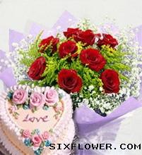 鲜花蛋糕/生日快乐