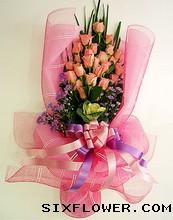 27枝粉玫瑰/爱人