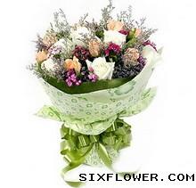 66枝香槟玫瑰/爱的温馨:18枝玫瑰/爱慕