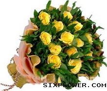 15枝黄玫瑰/多彩的梦