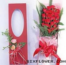 豪华礼盒包装/33枝红玫瑰