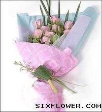12枝粉玫瑰/无边的爱