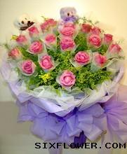 21枝紫玫瑰/携爱相依