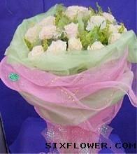 爱你无时无刻不在/18枝香槟玫瑰,9枝桔梗:19枝白玫瑰/冲动的爱情