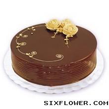 温暖的天空/圆形水果蛋糕:8寸巧克力蛋糕/思念