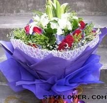 16枝黄玫瑰/爱无悔:19枝红玫瑰+百合/深深的爱意