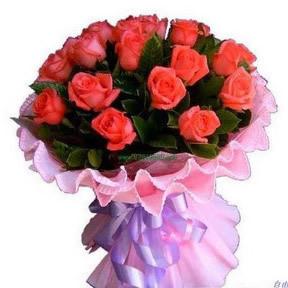 我只爱你/21枝粉玫瑰