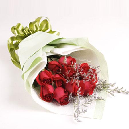 一生美丽/33枝玫瑰巨型花束:一切是你_11枝红玫瑰