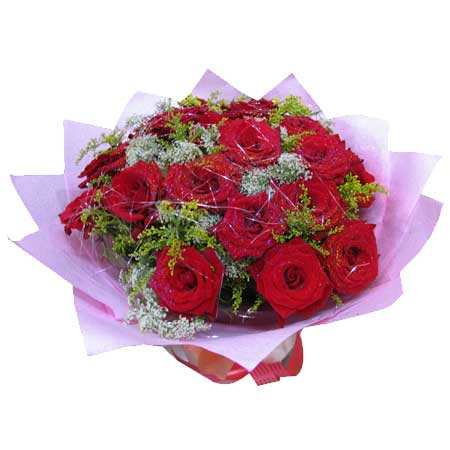 一辈子的爱/66枝粉玫瑰:永远祝福你_24枝红玫瑰