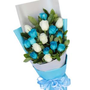 16枝玫瑰_比海更蓝