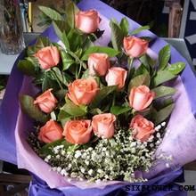 12枝粉玫瑰/全部的爱