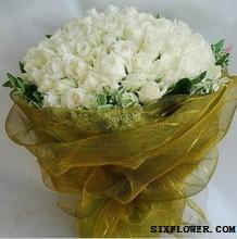 99枝白玫瑰/花儿会告诉你