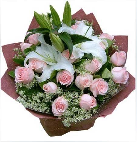 时刻爱你/11枝红玫瑰巧克力:好好爱你/33枝粉玫瑰