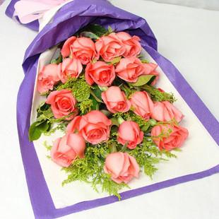 陪伴/18枝粉玫瑰