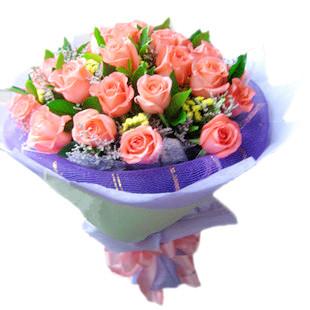 33枝玫瑰/我的思念:一切有我/27枝粉玫瑰