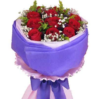 8寸水果蛋糕/希望你好好的:幸福的日子/11枝红玫瑰