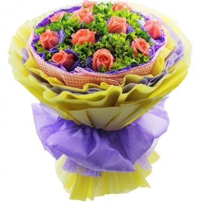 永远呵护你/17枝粉玫瑰巧克力:11枝粉玫瑰/疯狂爱情