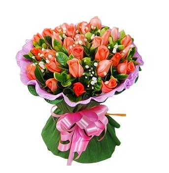 情意/33枝粉玫瑰