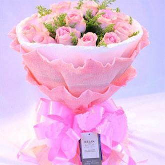 一生平安健康/28枝玫瑰:16枝粉玫瑰_灿烂的花