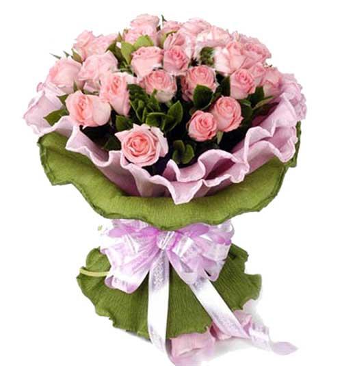 29枝粉玫瑰/爱的诗章