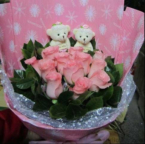 11枝粉色玫瑰/粉色恋人