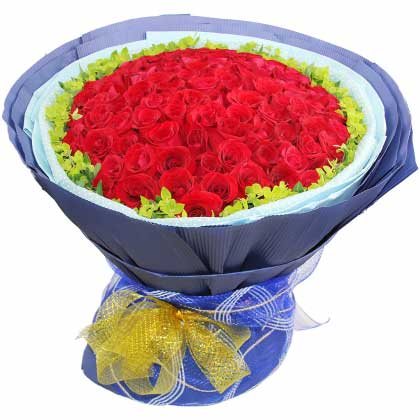 时刻想你/6枝玫瑰,2枝百合礼盒:我愿呵护你/99枝红玫瑰