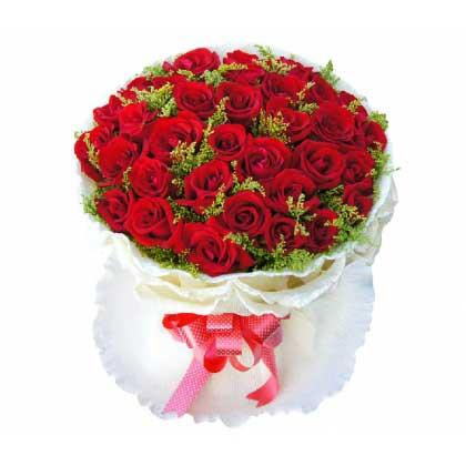 生生世世永相依/99枝蓝白玫瑰:情人节快乐/33枝玫瑰