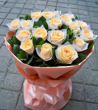 快乐之源/19枝香槟玫瑰