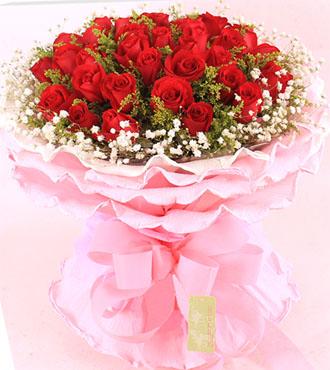 炽热的暖意/33枝红玫瑰