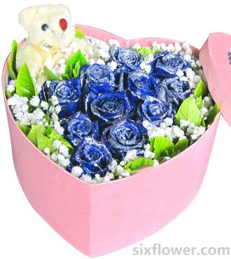 我就爱你/11枝蓝玫瑰礼盒
