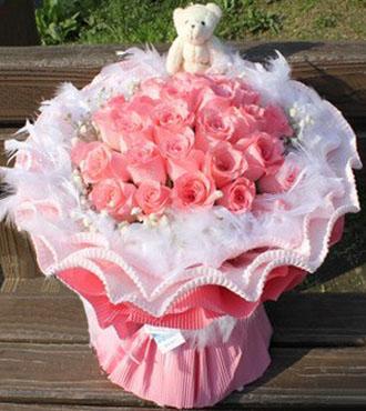 天使的礼物/33枝粉玫瑰