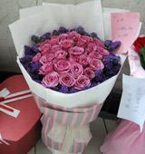 紫气东来/33枝紫玫瑰