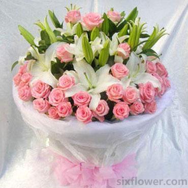 29枝粉玫瑰/永久的祝福