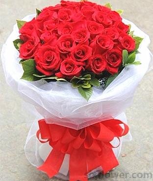 坚定而又执着的爱/19枝香槟玫瑰:我一直在/33枝红玫瑰
