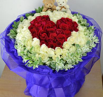 时刻牵挂着你/29枝红色玫瑰:热腾的心/99枝玫瑰
