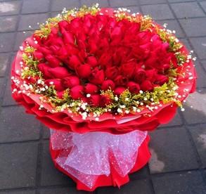 12枝白色玫瑰/为您守候:42枝红玫瑰/天使般的爱