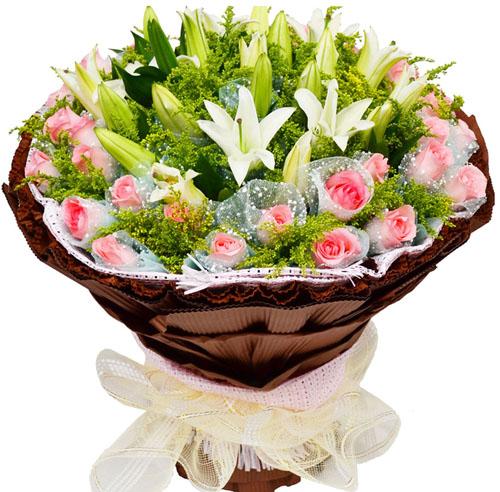 36枝粉色玫瑰/爱无限