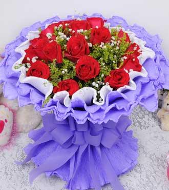 99枝白玫瑰/拥有你:天使的礼物/21枝红玫瑰