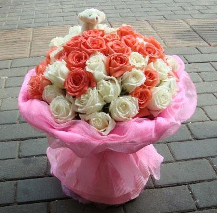一辈子的爱/66枝粉玫瑰:48枝玫瑰/你是我的至爱