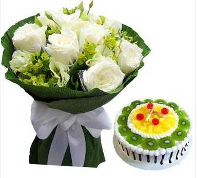 我最爱的人/11枝白玫瑰