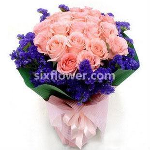 温暖/粉玫瑰22枝
