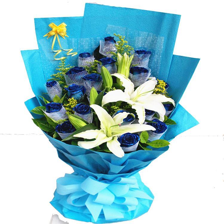19枝蓝玫瑰/最美丽