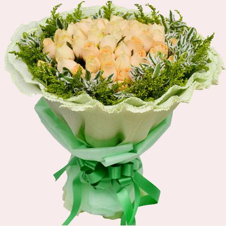 有你就是幸福/19枝香槟玫瑰:气场女神/52枝香槟玫瑰