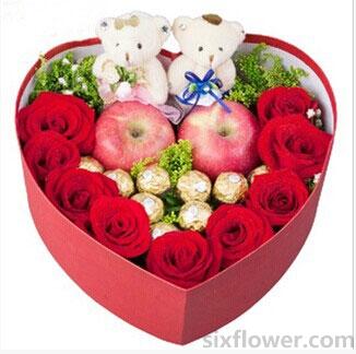 8寸水果蛋糕/希望你好好的:平安快乐/节日礼盒